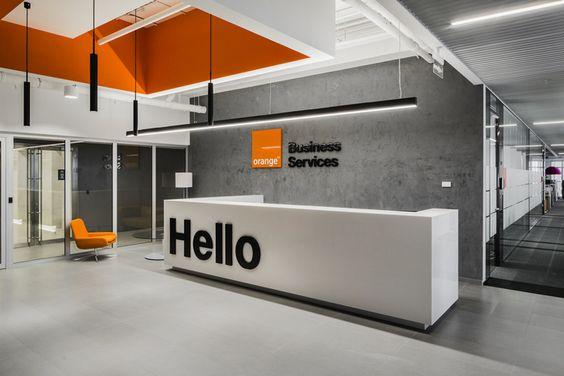 Orange Business Services Office iroda dekoráció